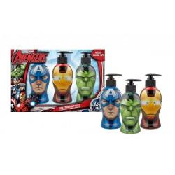 Corsair Avengers Kapitan Ameryka żel do mycia rąk 300ml + Iron Man szampon 300ml + Hulk żel pod prysznic 300ml