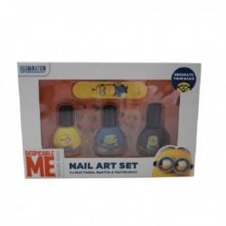 Corsair Despicable Me Minion Nail Art lakier do paznokci 3x10ml + pilniczek do paznokci + naklejki do paznokci
