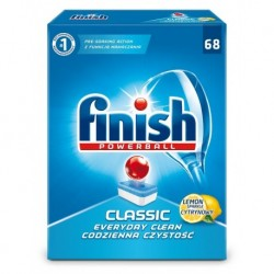 Finish Powerball Classic tabletki do mycia naczyń w zmywarkach Lemon 68szt