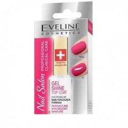 Eveline Nail Salon Clinical Care Gel Shine Top Coat ekstremalnie nabłyszczająca odżywka do paznokci 12ml