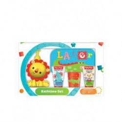 FISHER PRICE Bathtime Baby Balsam do ciała 30ml + Baby Bath Foam 30ml + Flannel + Beaker + 3D Dispenser