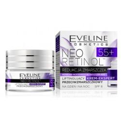 Eveline Neo Retinol SPF8 55+ liftingujący krem-ekspert przeciwzmarszczkowy dzień/noc 50ml