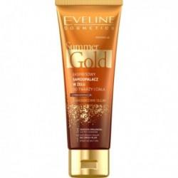 Eveline Summer Gold 3w1 ekspresowy samoopalacz do twarzy i ciała do jasnej karnacji 100ml