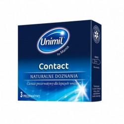 Unimil Contact lateksowe prezerwatywy 3sztuki