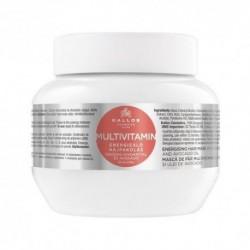 Kallos Multivitamin Energising Hair Mask Energizująca maska do włosów z ekstraktem ginsegna i olejem avokado 275ml