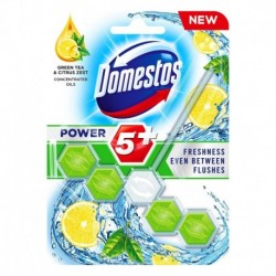 Domestos Power 5+ kostka toaletowa Green Tea & Citrus 55g