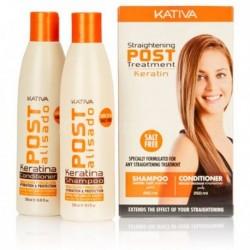 Kativa Keratina Straightening Post Treatment szampon 250ml + odżywka 250ml