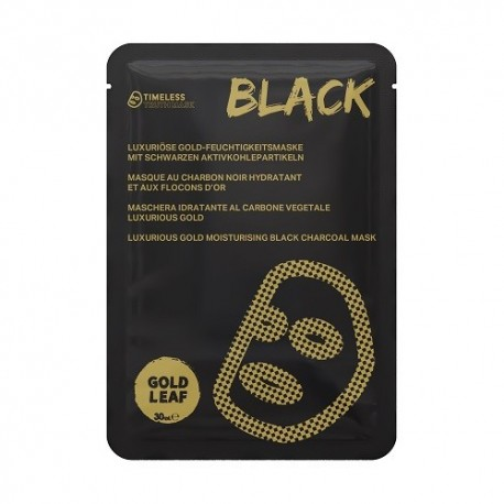 Timeless Truth Mask Black Luxurious Gold Moisturising Black Charcoal Mask nawilżająca maska z węglem drzewnym Gold Leaf 30ml