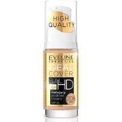 Eveline Ideal Cover Full HD Foundation SPF10 Matujący podkład kryjący 208 Sand 30ml