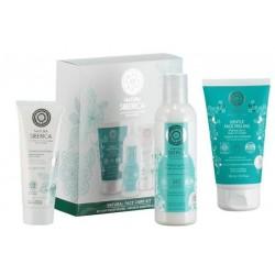 Siberica Professional Natural Face Care Płyn oczyszczający do twarzy 200ml + Peeling 150ml + Energizująca maseczka 75ml