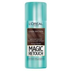L`Oreal Magic Retouch Błyskawiczny retusz odrostów w sprayu Ciemny Brąz 75ml