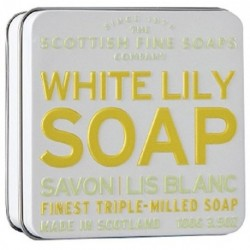 The Scottish Fine Soaps White Lily Soap In A Tin Mydło w puszce o zapachu białej lilii 100g