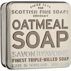 The Scottish Fine Soaps Oatmeal Soap In A Tin Delikatnie Peelingujące Mydło w puszce z owsianką 100g