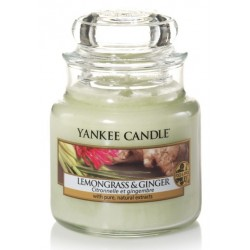 Yankee Candle Small Jar Mała świeczka zapachowa Lemongrass & Ginger 104g