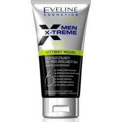 Eveline Men X-treme Aktywny węgiel oczyszczający żel peelingujący 6w1 150ml