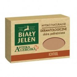 Biały Jeleń Apteka Alergika mydło naturalne do skórypodrażnionej Ichtiol 125g