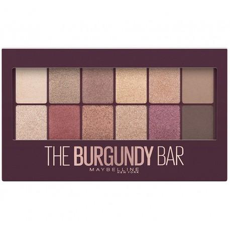 Maybelline The Burgundy Bar paleta cieni do powiek 9,6g