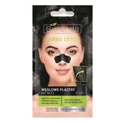 Bielenda Carbo Detox Węglowe plastry na nos z aktywnym węglem 2szt