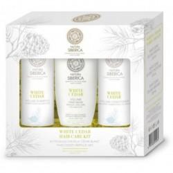 Siberica Professional White Cedar Hair Care Szampon zwiększający objętość 250ml + Odżywka 250ml + Maska 200ml