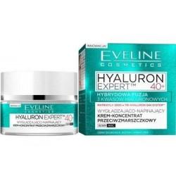 Eveline Hyaluron Expert 40+ Wygładzająco-napinający krem-koncentrat przeciwzmarszczkowy dla cery dojrzałej dzień/noc 50ml