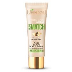 Bielenda Total Look Make-Up Nude Match Fluid idealne dopasowanie 03 Słoneczny Beż 30g