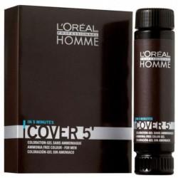 L`Oreal Homme Cover 5 Ammonia-Free Hair Colour Gel Żel do koloryzacji włosów dla mężczyzn 4 Brown 3x50ml