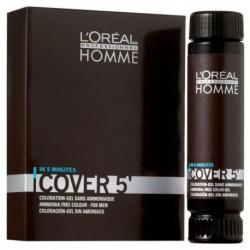 L`Oreal Homme Cover 5 Ammonia-Free Hair Colour Gel żel do koloryzacji włosów dla mężczyzn 5 Light Brown 3x50ml