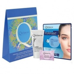 Qiriness Zestaw Radiant Deep Pore Scrub Peeling 20ml + Facial Steam Bath 8g Kąpiel parowa + Purifying Mask Maseczka 30g