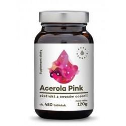 Aura Herbals Suplement diety ekstrakt z owoców aceroli Acerola Pink 480 tabletek