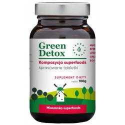 Aura Herbals Suplement diety Mieszanka superfoods Green Detox 100 tabletek 100g