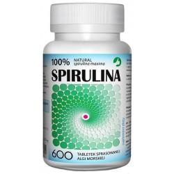 Aura Herbals Suplement diety w tabletkach Spirulina sprasowana alga słodkowodna 600 tabletek 150g