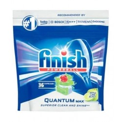 Finish Powerball Quantum Max Kapsułki do mycia naczyń w zmywarkach Apple Lime Blast 36szt