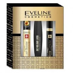 Eveline Pogrubiający tusz do rzęs 10ml + SOS multifunkcyjne serum do rzęs 10ml + Korektor do brwi 9ml
