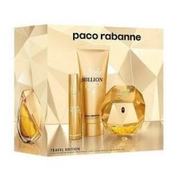 Paco Rabanne Lady Million Woda perfumowana 80ml spray + 10ml spray + Balsam do ciała 75ml