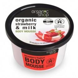 Organic Shop Organic Strawberry & Milk Body Mousse Mus do ciała o zapachu truskawkowego jogurtu 250ml
