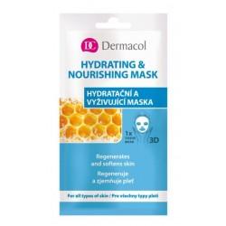 Dermacol 3D Hydrating And Nourishing Mask Nawilżająco-odżywcza maseczka do twarzy na tkaninie 15ml