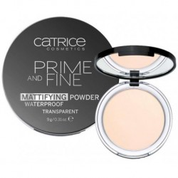 Catrice Prime And Fine Mattifying Powder Waterproof Wodoodporny puder w kompakcie 010 Transculent 9g