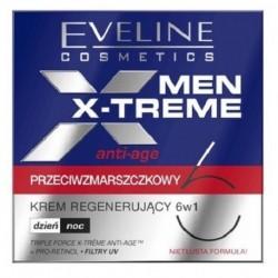 Eveline Men X-Treme Przeciwzmarszczkowy krem regenerujący 6w1 na dzień/noc 50ml