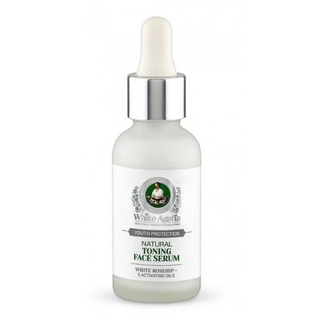 Bania Agafii White Agafia Natural Toning Face Serum tonizujące serum do twarzy 30ml