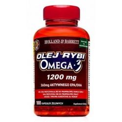 Holland & Barrett Olej rybi 1200mg z kwasami Omega-3 100 kapsułek żelowych
