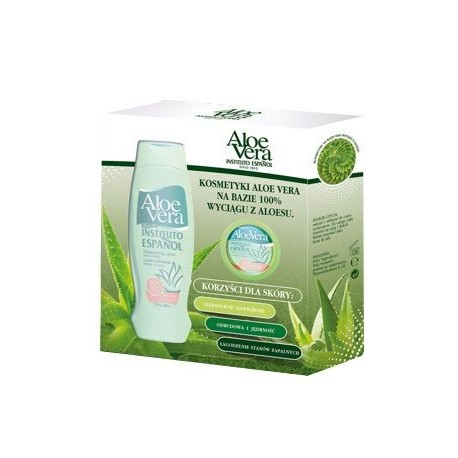 INSTITUTO ESPANOL Aloe Vera mleczko do ciała 500ml + Aloe Vera krem do ciała 50ml