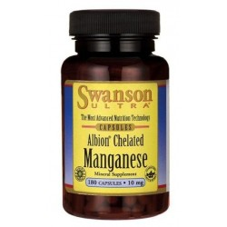 Swanson Albion Chelat Manganu 10mg Suplement diety 180 kapsułek