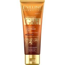 Eveline Summer Gold 3w1 ekspresowy samoopalacz do twarzy i ciała do ciemnej karnacji 100ml