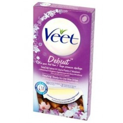 Veet Easy-Gelwax plastry z woskiem do depilacji ciała 10szt