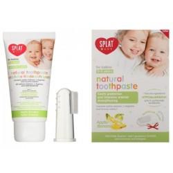 Splat Baby Naturalna pasta do zębów dla dzieci z silikonową szczoteczką na palec Apple & Banana 40ml