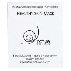 Nature Cosmetics Healthy Skin Mask biocelulozowa maska z naturalnym śluzem ślimaka i kwasem hialuronowym