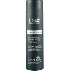 Ecolab Man`s Szampon & Żel pod prysznic 2in1 szampon i żel pod prysznic dla mężczyzn Cypress & Green Tea 250ml