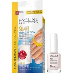 Eveline Nail Therapy Total Action 9w1 skoncentrowana odżywka do paznokci stóp 12ml