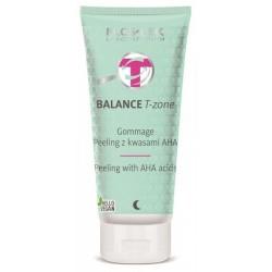 FLOSLEK Balance T-Zone Gommage peeling z kwasami AHA 125ml