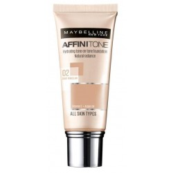 Maybelline Affinitone podkład do twarzy 02 Light Porcelain 30ml